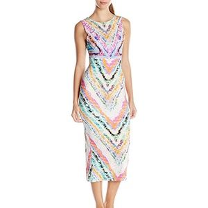 Mara Hoffman Patterned Tie-Back Midi Dress